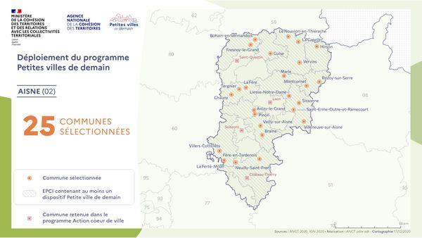 """Les communes de l'Aisne retenues dans le cadre du programme """"Petites villes de demain"""""""
