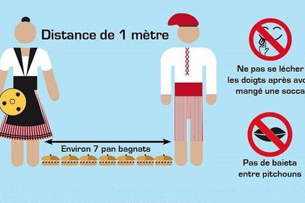 Les gestes barrières version Nice Côte d'Azur, vus par le graphiste Jérôme Sommier.