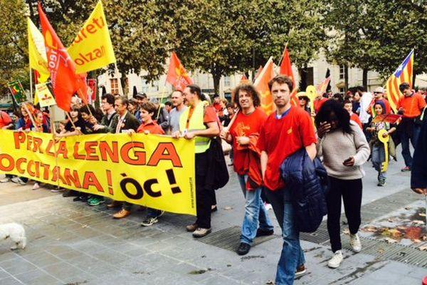 15 000 personnes auraient manifesté, samedi 24 octobre, pour la sauvegarde de la langue occitane.