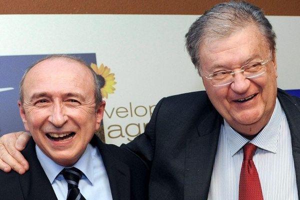 Georges Frêche reçoit le soutien de Gérard Collomb le maire PS de Lyon le 23 février 2010
