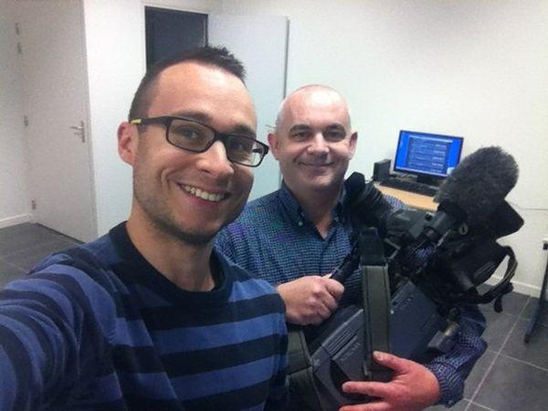 Julien Bernier (G) et Vincent Logereau (D) nos deux journalistes en poste à Montargis