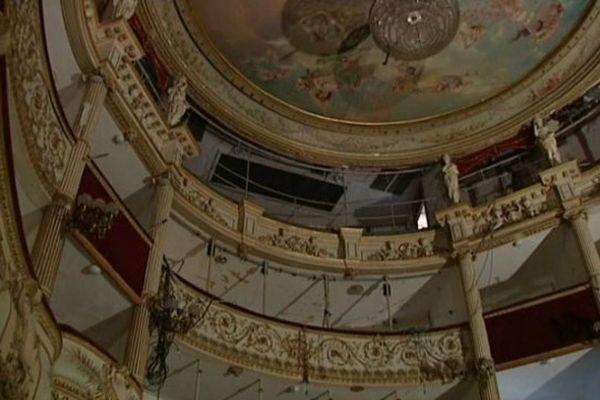 Le théâtre à l'italienne de Nevers, en pleine rénovation