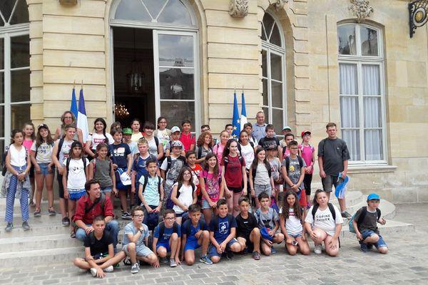 Les élèves de l'école André Pic de Port-la-Nouvelle reçus à Matignon le 29 juin 2018