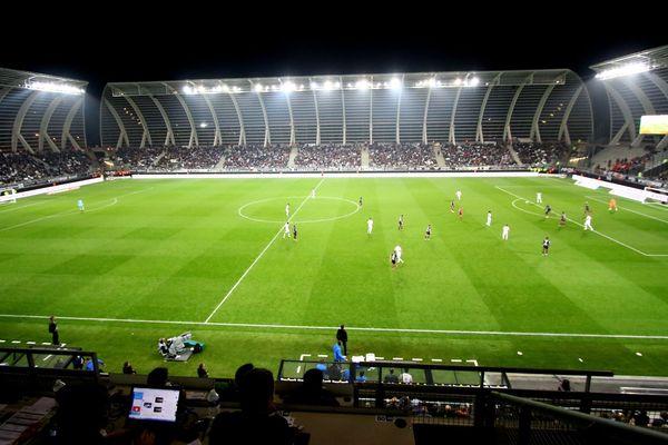 Le stade de la Licorne le 06 octobre 2018 lors du match Amiens SC - Dijon