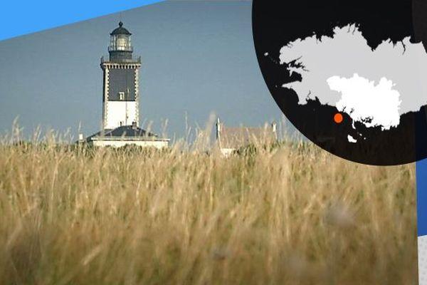 Le phare de Pen-Men sur l'île de Groix