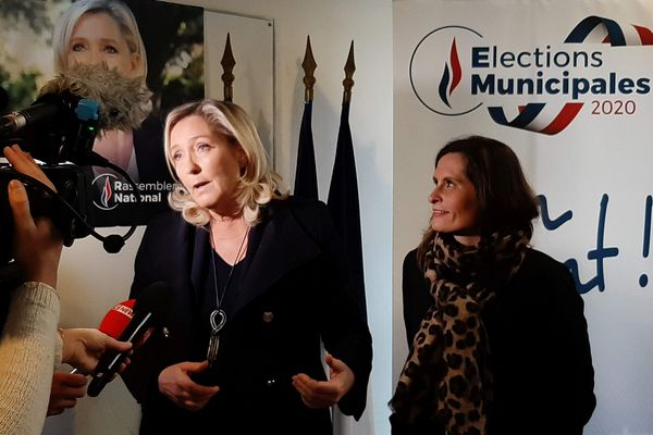 Marine Le Pen est venue, ce jeudi 23 janvier 2020, à Nantes pour soutenir la candidate du Rassemblement National à la mairie de Nantes, Eléonore Revel,