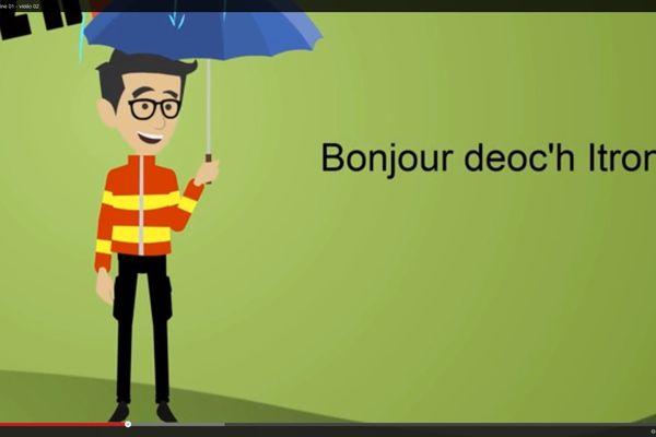 Lancé cette semaine, le cours en ligne permet d'apprendre le breton en cinq semaines grâce à de petits dessins animés.