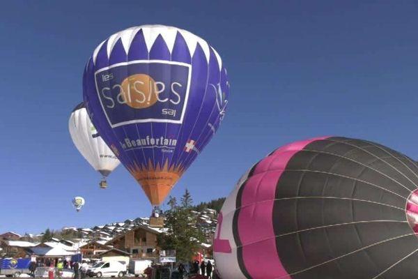 25 montgolfières venues de toute l'Europe ont participé à la 36è édition des Jeux aériens dans la station des Saisies