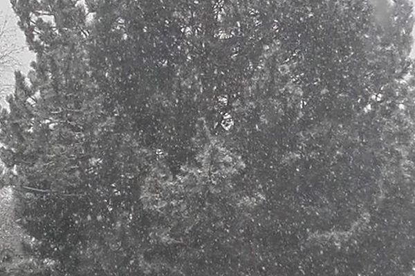 Neige à Saint-Priest-Taurion (Haute-Vienne) le 22.01.2019