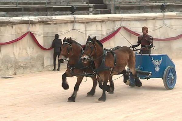 La course de chars est de retour aux Grands jeux romains qui se dérouleront à Nîmes du 3 au 5 mai.Le public sera invité à participer à encourager ses favoris.