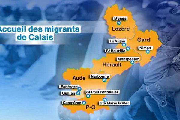 11 centres d'accueil sont ouverts en Languedoc-Roussillon pour environ 400 migrants