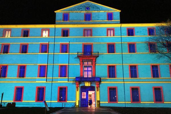 Montpellier - les illuminations Coeur de ville du musée Fabre - 29 novembre 2017.