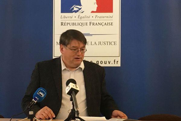 François Pérain procureur de la République près le tribunal judiciaire de Nancy.