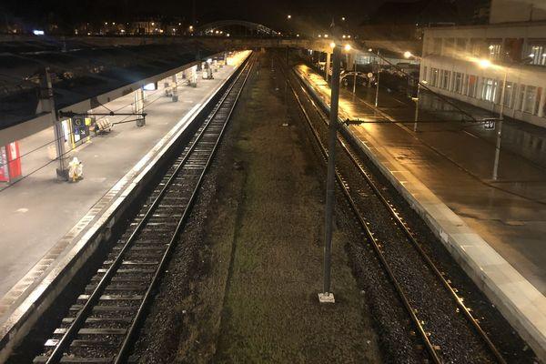 La gare de Mulhouse , le 9 décembre dernier