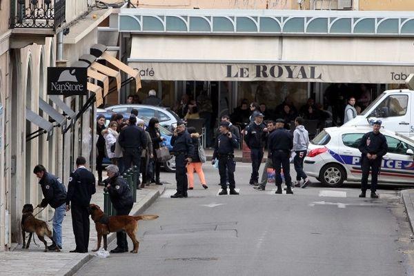 Alerte à la bombe à Corse-Matin, Ajaccio, le 11 mars