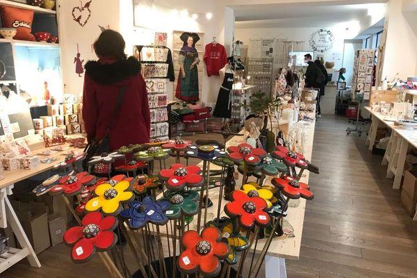 Une diversité de produits dans la boutique éphémère, consacrée au made in Alsace