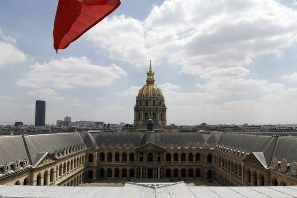La cour d'honneur de l'hôtel des Invalides à Paris