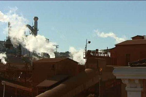 L'usine Altéo à Gardanne dans les bouches-du-Rhône