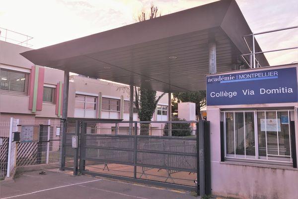 L'entrée du Collège Via Domitia de Poussan (Hérault) sera fermée aux élèves ce lundi 15 mars 2021 pour cause de multiples cas-contacts au sein du corps enseignant du du personnel.