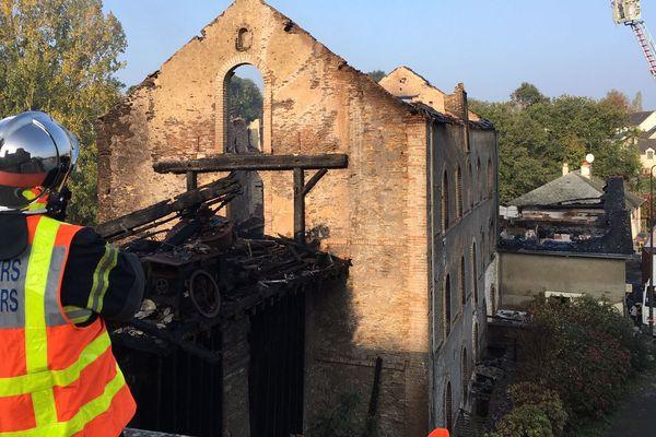 Le moulin de Pouancé a été ravagé par un incendie, le 18 octobre 2018
