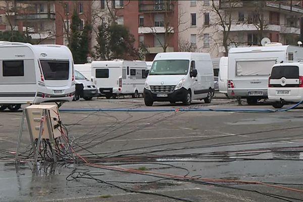 Une mission évangéliste installée illégalement sur le parking du Zenith en Mars 2017