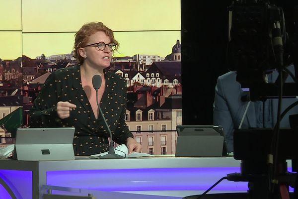 Ingrid Levavasseur ce vendredi 8 octobre 2021 sur le plateau de RMC Story