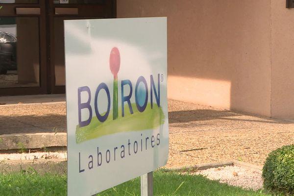 L'entrée de l'établissement Boiron au Pontet