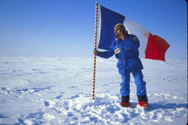1986, l'arrivée au pôle Nord après 63 jours de marche.