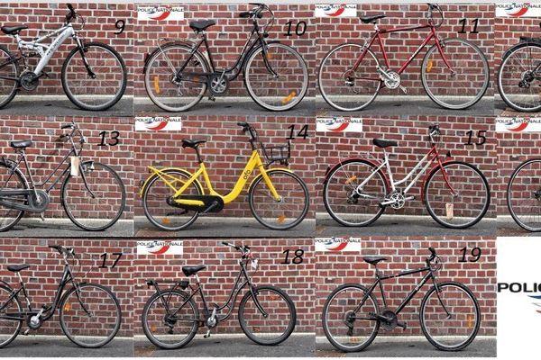 La police nationale d'Amiens cherche à identifier les propriétaires de 19 vélos volés dans la métropole amiénoise.