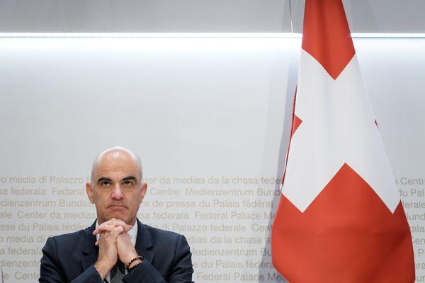 Alain Berset, conseiller fédéral suisse et chef du Département fédéral de l'intérieur (DFI)