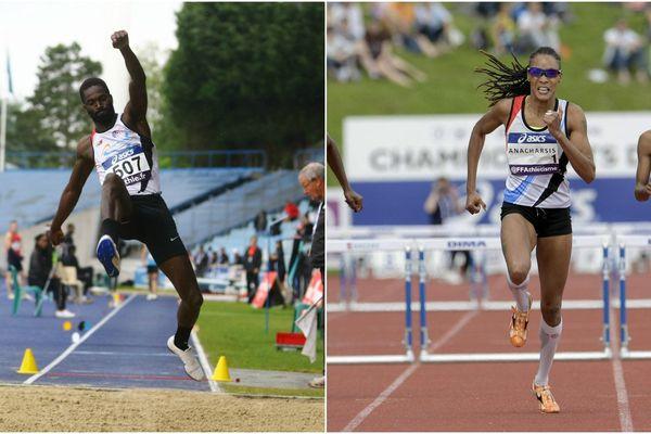 Kafétien Gomis et Phara Anacharsis font partie des quatre athlètes qui s'entraînent à Lille à participer aux épreuves d'athlétisme à Rio.