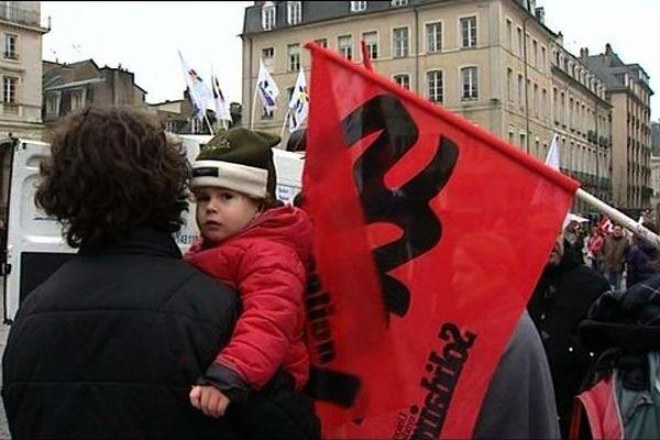 Manifestation des enseignants à Rennes