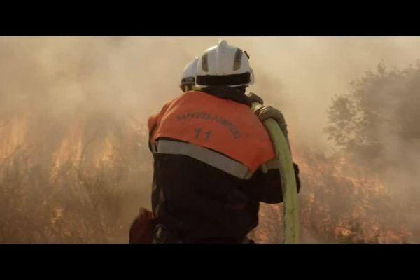 """Image extraite de la bande annonce du film """" les hommes du feu"""" de Pierre Jolivet, sortie en salle le 5 juillet 2017"""