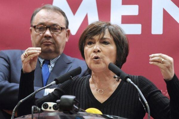 Patrick Mennucci et Marie-Arlette Carlotti candidats socialistes malheureux à la mairie de Marseille.