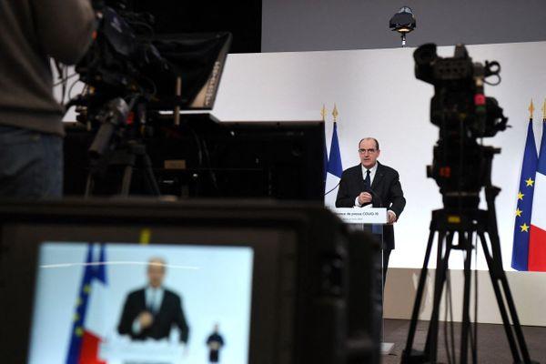 Le Premier ministre lors d'une conférence de presse sur la crise sanitaire le jeudi 4 mars.
