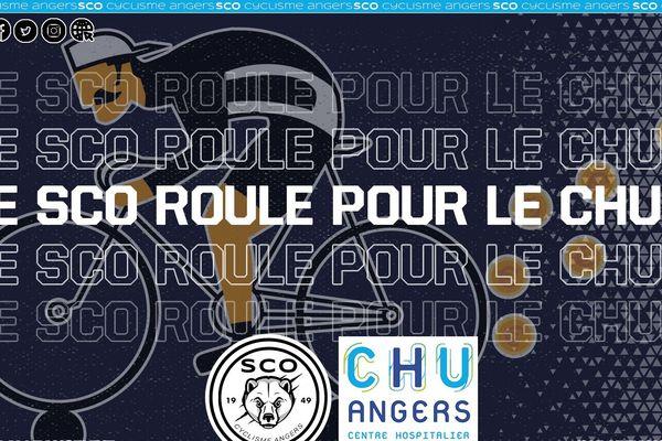 Le défi ''le SCO roule pour le CHU'' peut être suivi, encouragé et soutenu sur les réseaux sociaux
