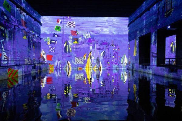 """La nouvelle exposition s'appelle """"Monet, Renoir… Chagall, Voyages en Méditerranée"""". Une réalisation Gianfranco Iannuzzi - Renato Gatto - Massimiliano Siccardi Du 19 mai au 2 janvier 2022 à Bordeaux, aux bassins à flot."""