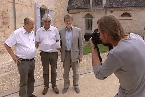 Les maires de Boulazac, St Laurent sur Manoir et Atur.