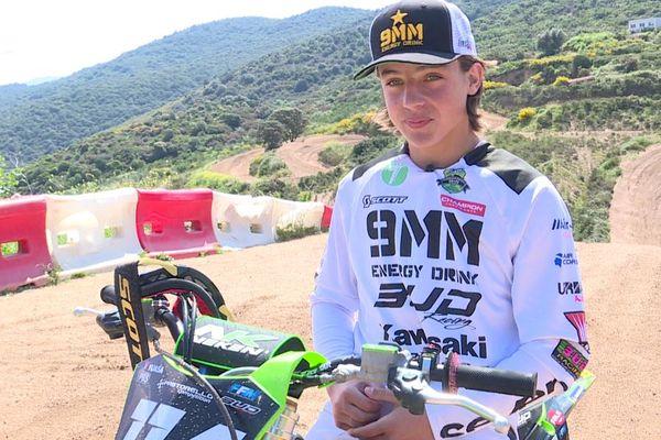 Joey Simonini, 14 ans, va concourir aux championnats de France de motocross le 6 juin prochain.