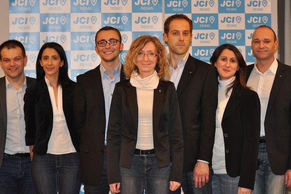 Claire Alexandre - Présidente de la Jeune Chambre Economique de Reims (et son équipe).