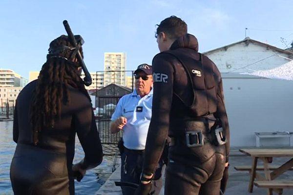 Interpellation de deux chasseurs sous-marins