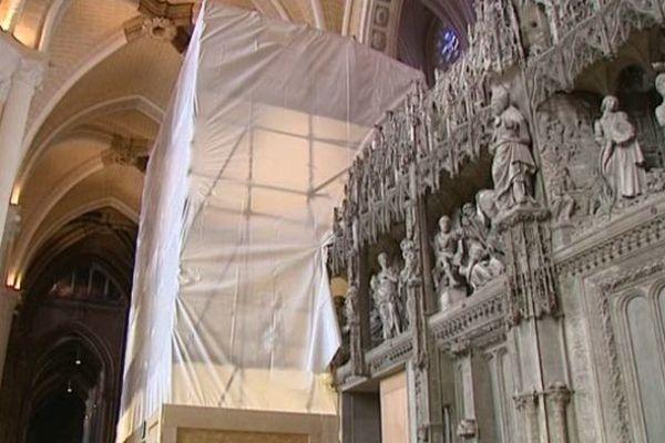 Intérieur de la cathédrale de Chartres.