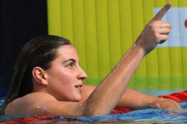 Charlotte Bonnet a battu le record de France du 100 m nage libre en petit bassin lors des Championnats de France à Montpellier - 30 novembre  2017