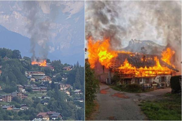 Un incendie a ravagé une ferme à Saint-Gervais-les-Bains le 10 septembre dernier