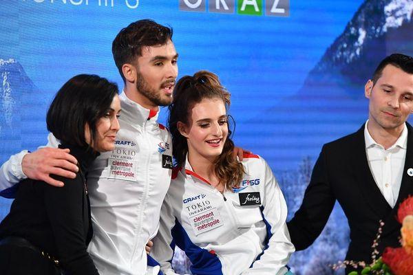 L'attente a été longue et cruelle pour Gabreilla Papadakis et Guillaume Cizeron deuxièmes du championnat d'Europe de danse sur glace à Graz en Autriche