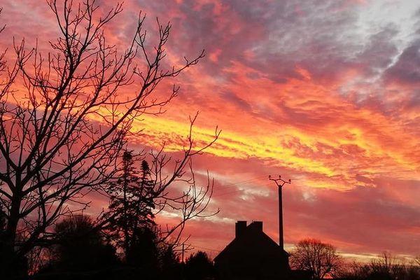 Photo prise ce jeudi 26 décembre, dans le petit village d'Hyds dans l'Allier.
