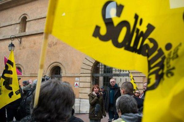 Devant la Cour d'appel, manifestation de soutien