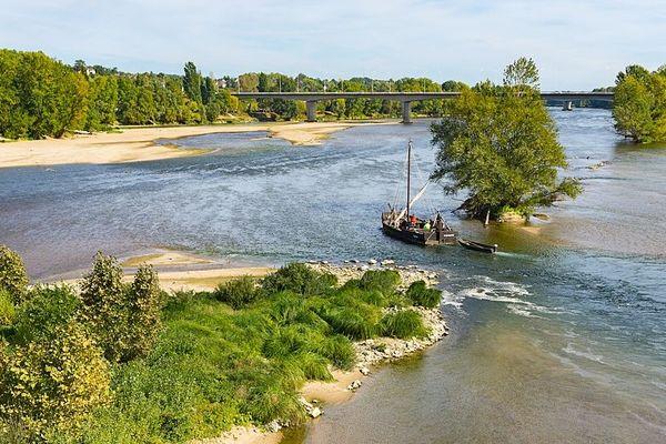 La Loire sauvage vue du ciel