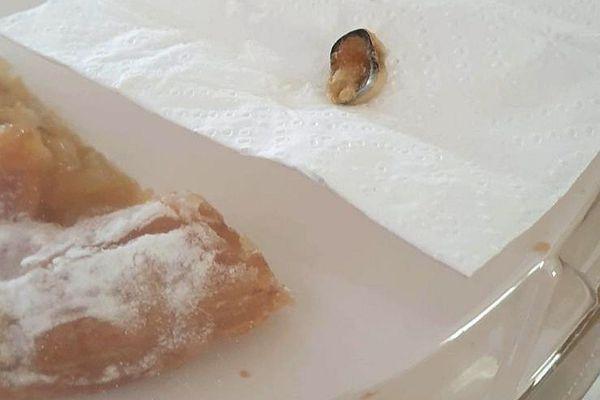 Une dent sur pivot trouvée dans une tarte aux pommes vendue dans un Carrefour Market.