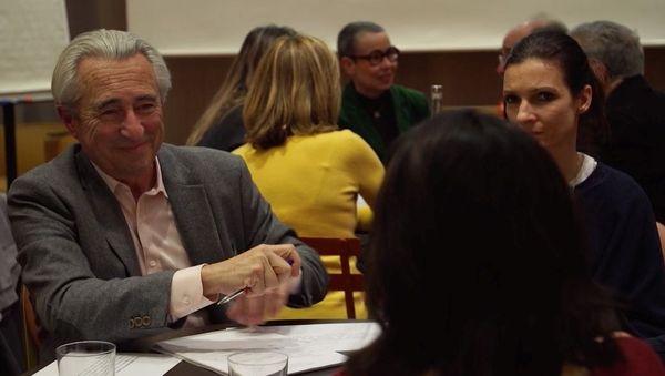 Marc Renart avec des bénévoles du programme Devenirs.